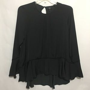 Mossimo Black Boho Style W/Bell Sleeves Size L